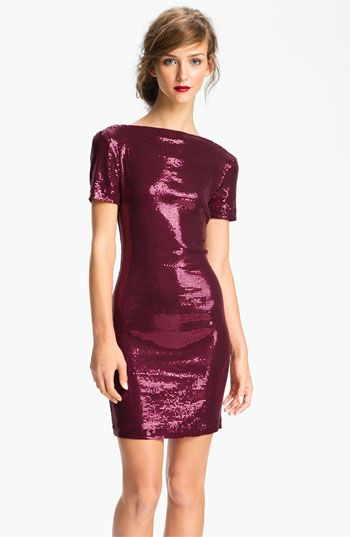 Ali Ro Low Back Sequin Sheath Dress | Nordstrom