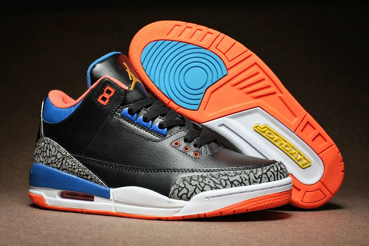 1062b78faf52 Air Jordan 3 Russell Westbrook OKC PE Elephant Print Black Blue Orange