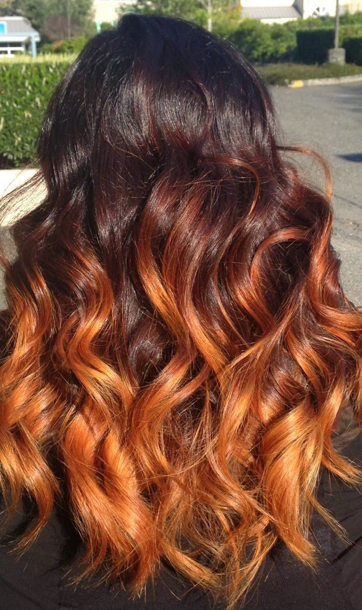 Ombre Is Here To Stay Orange Ombre Hair Orange Brown