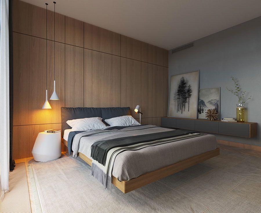Camera da letto minimal 13