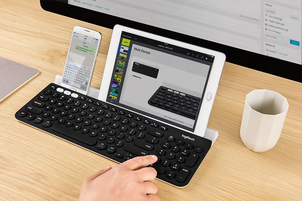 Logitech K780 Multi-Device Wireless Keyboard for Computer, Phone