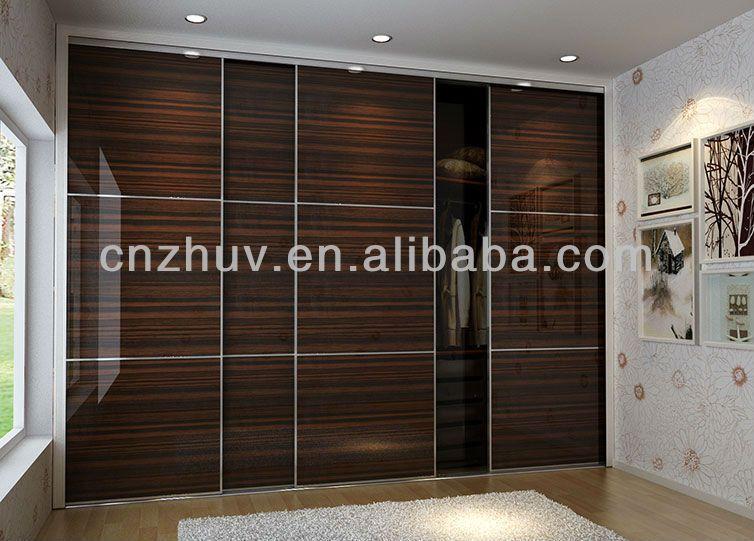 Bedroom Wardrobe Doors Designs Interesting Wooden Sliding Customized Bedroom Wardrobe High Gloss Wardrobes Inspiration Design