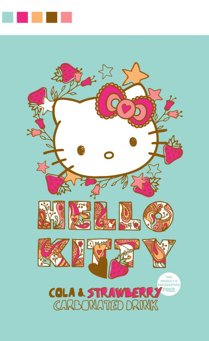 Hello Kitty Strawberry Cola Can - The Dieline -