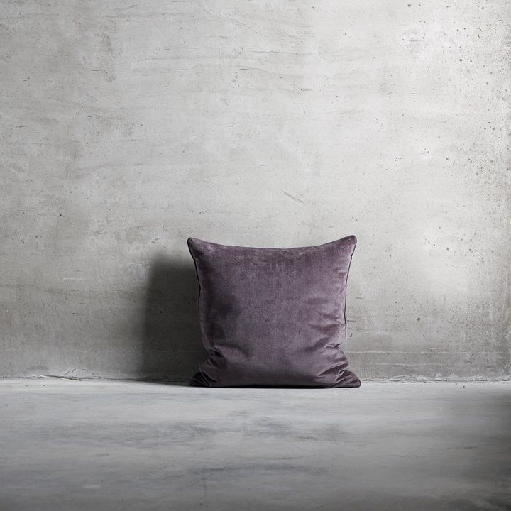 cushion cover in an exclusive plum colored velvet fabric the rh pinterest com