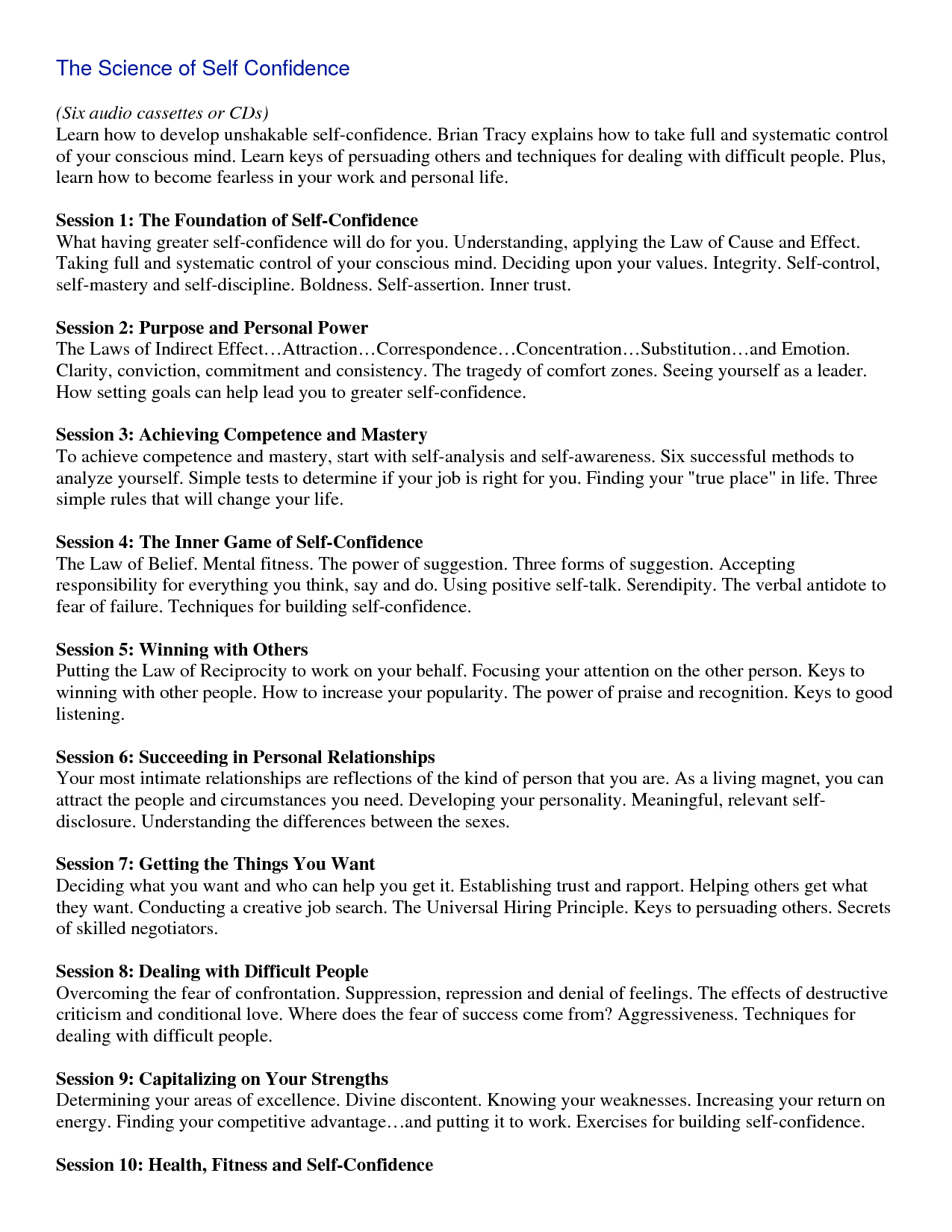 Worksheets Brian Tracy Goals Worksheet 5 ebook brian tracy science of self confidence read again confidence