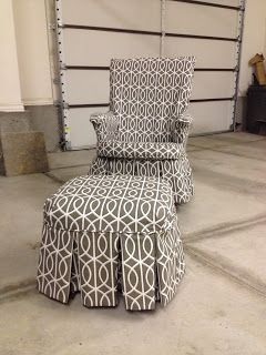 slipcover for rocking chair glider modern executive office the sewing nerd and ottoman makeover grandma
