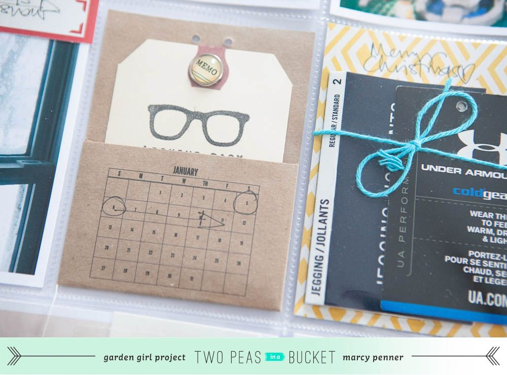 <3 the pocket with tag... and the calendar stamp