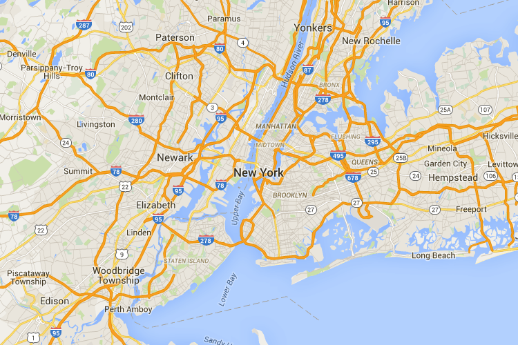 Google Map Of New York City.Google Map Gps Coordinates Lat And Long Front End Map New