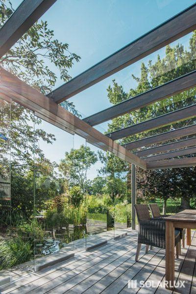 Terrassendach aus Holz-Aluminium