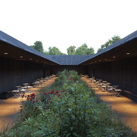 black garden peter zumthor for the serpentine gallery