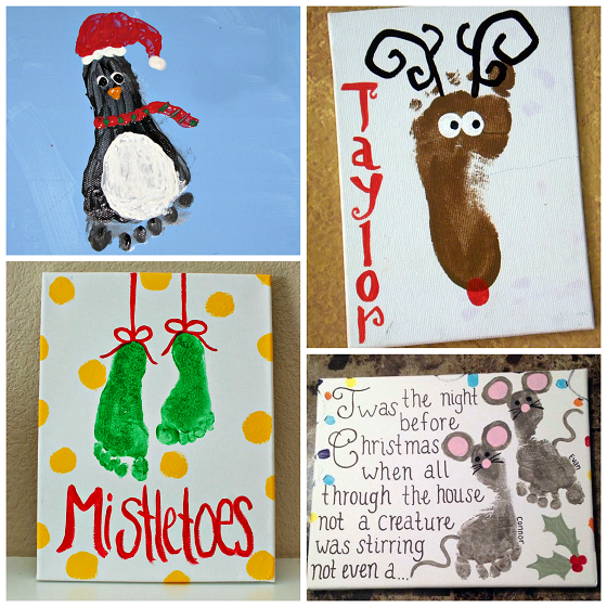adorable christmas footprint crafts for kids crafty morning christmas arts and crafts christmas crafts