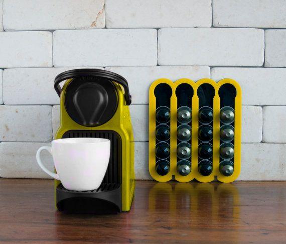 Yellow Nesspresso Coffee Pod Holder, Capsules Holder For 20 Nespresso Pods  Storage, Coffee Nespresso Pod Stand Kitchen, Housewarming Gift