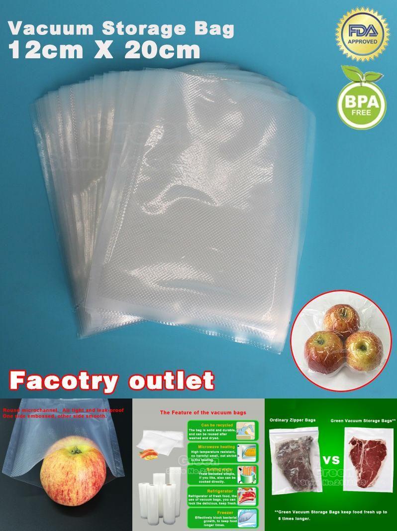 Visit To Buy 12cm X 20cm 50pcs Kitchenboss Vacuum Food Bag For Kitchen Vacuum Storage Bags Packing Film Keep Fresh U Save Food Food Saver Vacuum Food Sealer