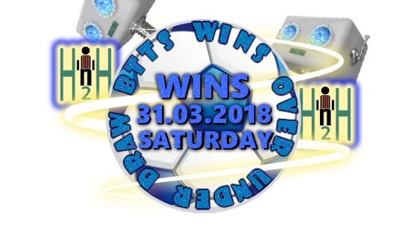 Soccer Predictions 4 Today H2H WINS Saturday 31 03 2018
