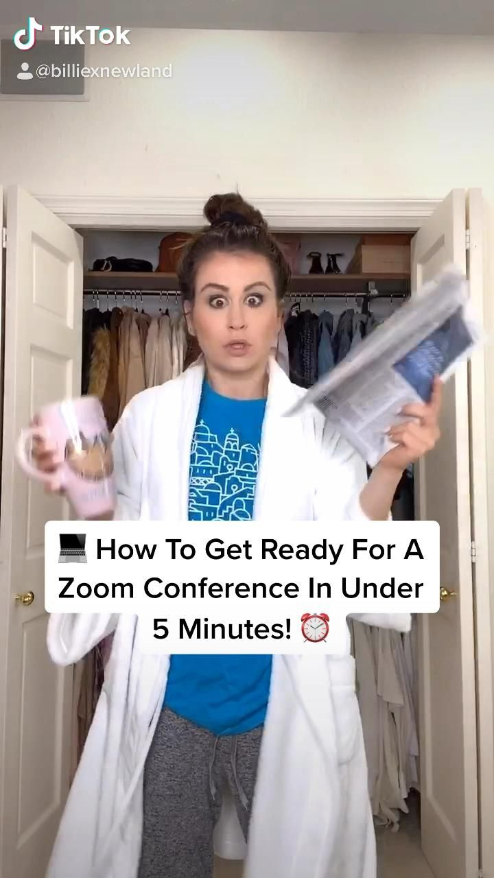 How To Get Ready For A Zoom Conference In Under 5 Minutes Video Funny Captions Funny Moments Funny Photos