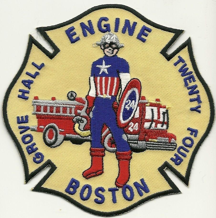 Massachusetts Boston EMS Paramedic MA Fire Dept Patch