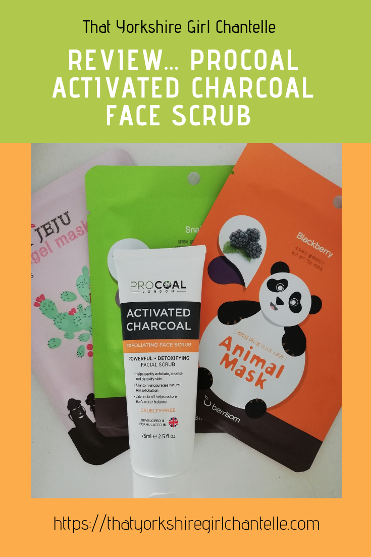 af77aaa1c2b ... Yorkshire Girl Chantelle- Blogger. Review... Procoal Activated Charcoal  Face Scrub #blogger #beautyblogger #newblogpost #