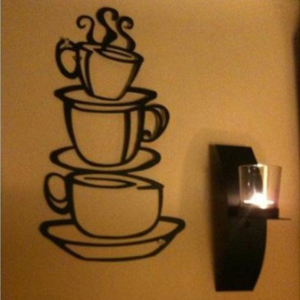 Amazon coffled coffee cup wall decal stickerssuper bright