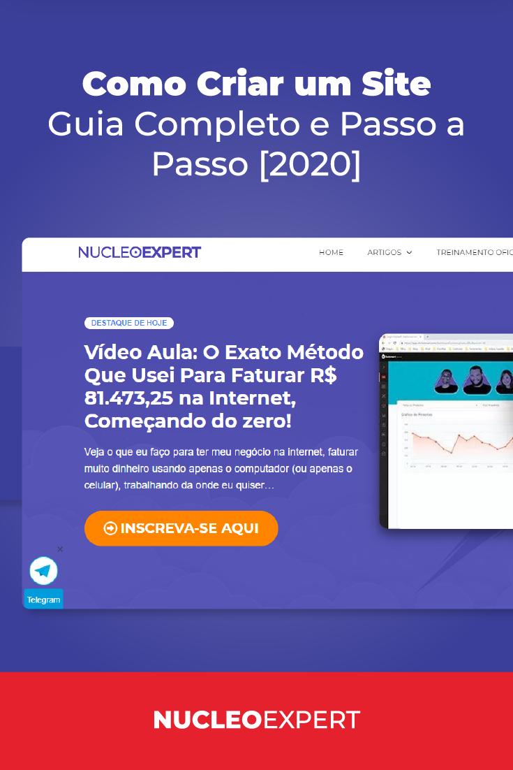 Como Criar um Site – Guia Completo e Passo a Passo [2020]