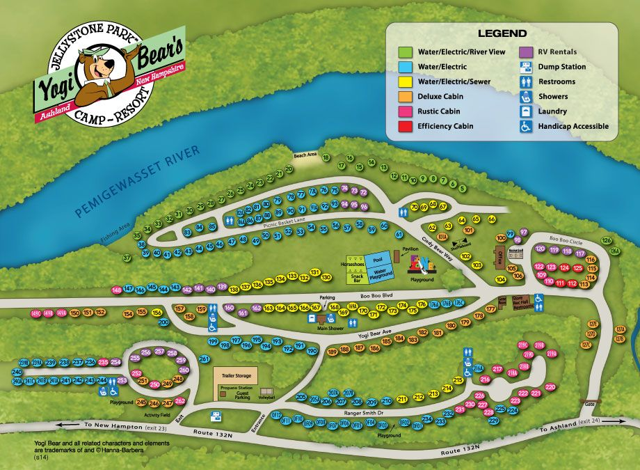 Yogi Bear Campground Map Google Search Camp Ground