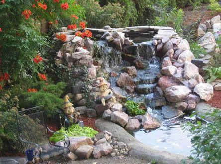 Vijver zuurstof waterval lvt leuk voor thuis for Kleine tuinvijver