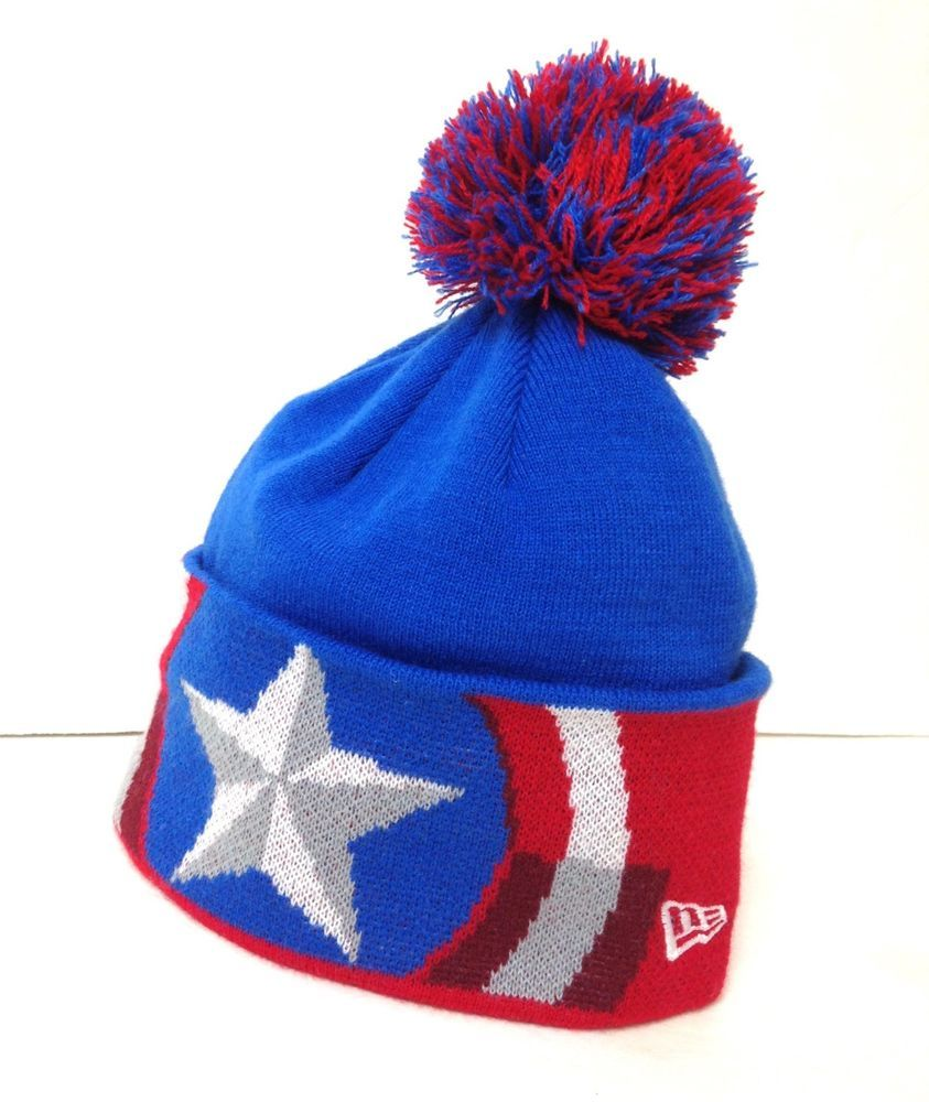 Red And Blue Beanie Hat e69ac2d6139