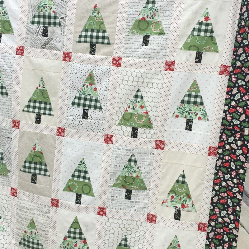 Christmas Tree Farms Victoria: Patchwork Forest Christmas Quilt Top Mellmeyerde Christmas