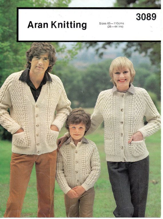 4ea4dfcd01555 Ladies   mens   childrens aran cable cardigans in v or round neck ...