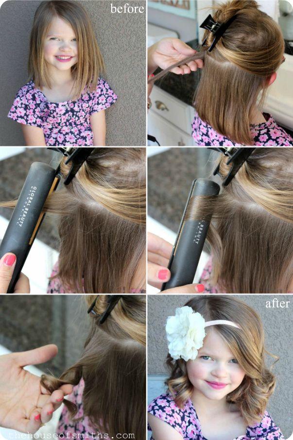 Flat Iron Curling Hair Tutorial diy easy diy diy beauty