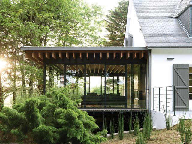 Maison en Bretagne : cabane en verre dans les bois | Extensions ...