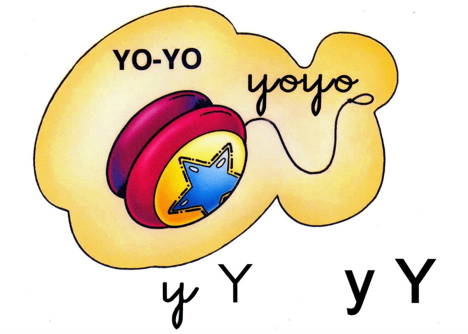 Letra Y Minuscula Y Mayuscula Yoyo