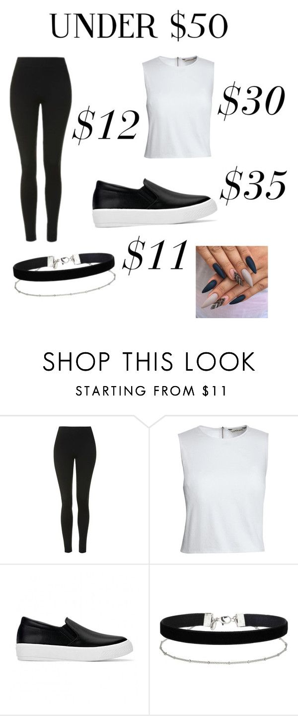 """""""black x white"""" by altxya on Polyvore featuring Topshop, Canvas by Lands' End, Miss Selfridge, under50 and skirtunder50"""