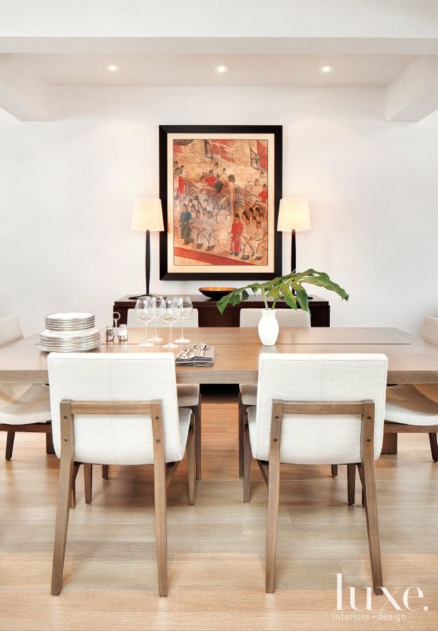 The Bauhaus Console In A Dining Room By Caroline Edwards Luxe Interiors Furniture Interior Cream Dining Chairs Modern Dining Chairs Dining Room Inspiration
