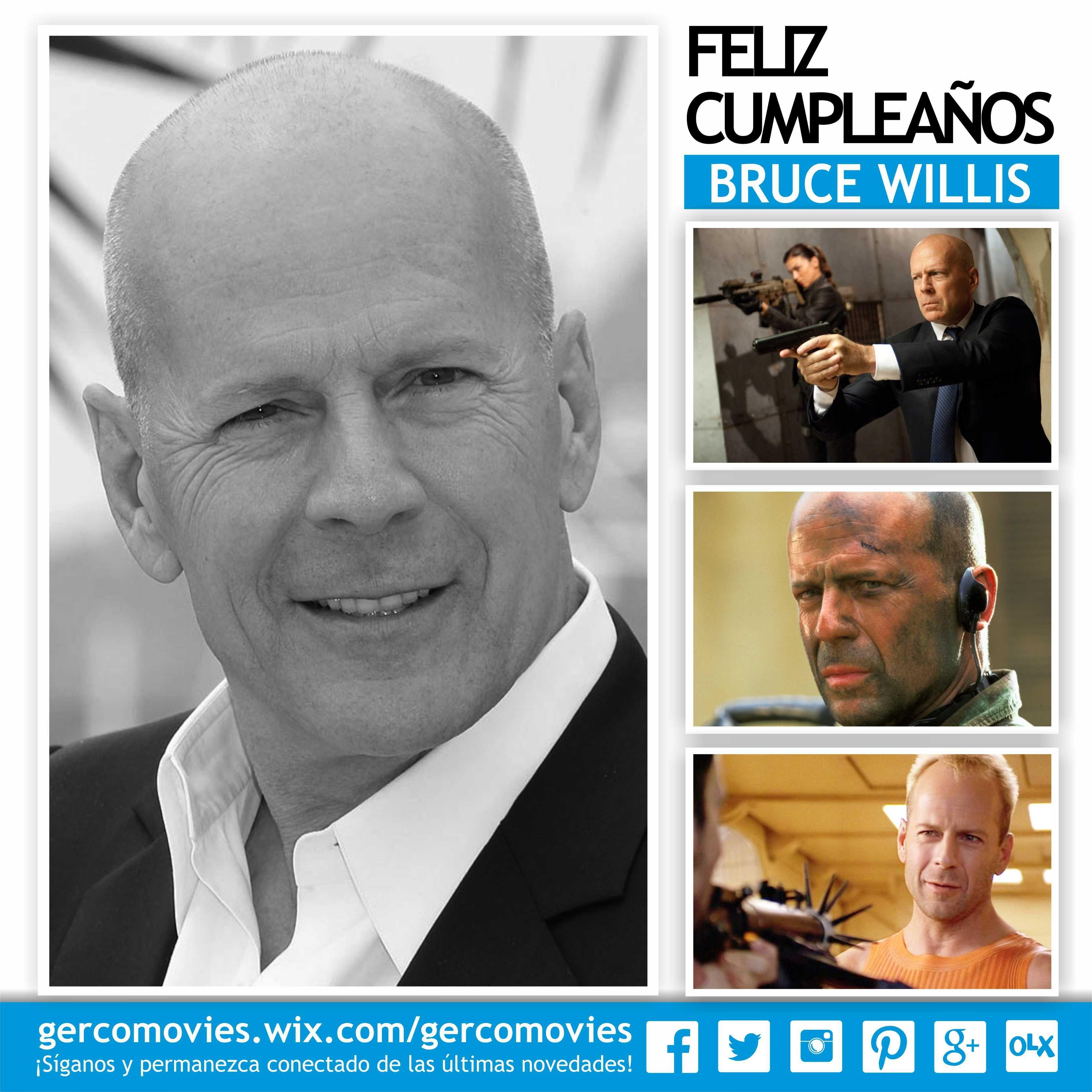 Hoy hace 60 años nació en Alemania #BruceWillis, héroe de acción y fantasma despistado.