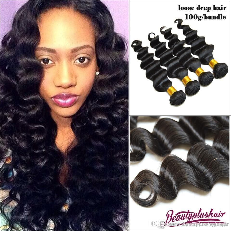 3 Bundles Hot Style Loose Deep Wave Brazilian Virgin Hair Weaves