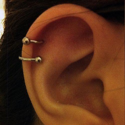 1x Titanium Steel Stud Earrings Tragus Cartilage Barbell Piercing Body Jewelry