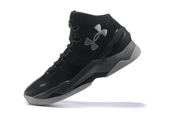 new product 8562e 7a9bb 2018 New Authentic Under Armour Curry 2 Black Silver Size ...