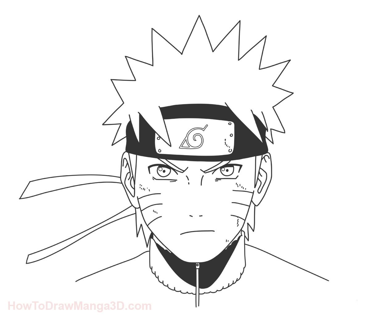 Naruto Sketch Easy Black And White