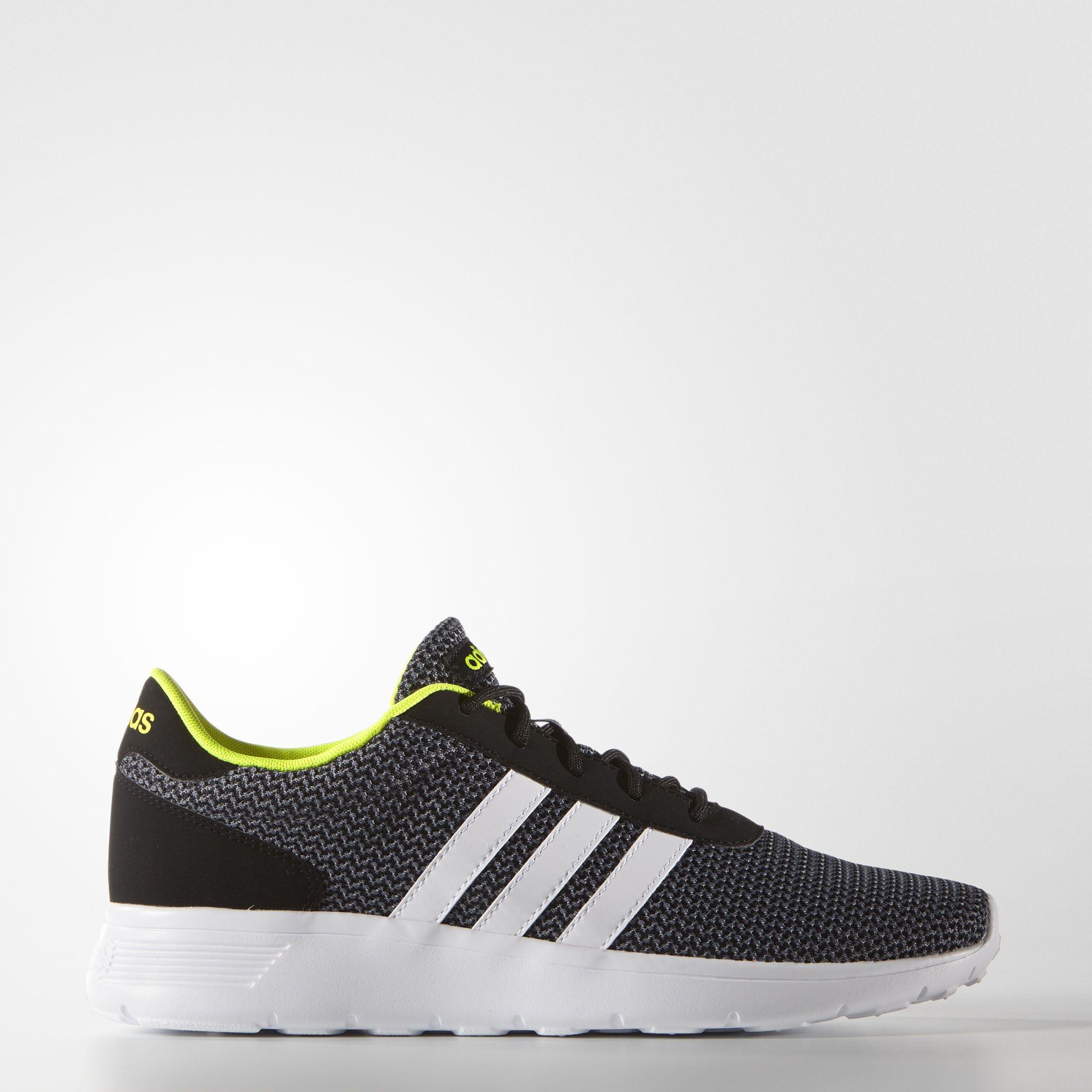 Mens Shoes adidas Lite Racer Black/Black/Grey