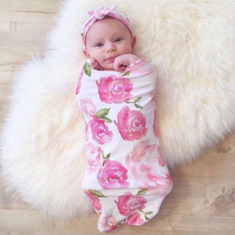 Cotton Swaddle Blanket Newborn Baby Boys Girls Wrap Sleeping Bag Sleepsack 0-3M