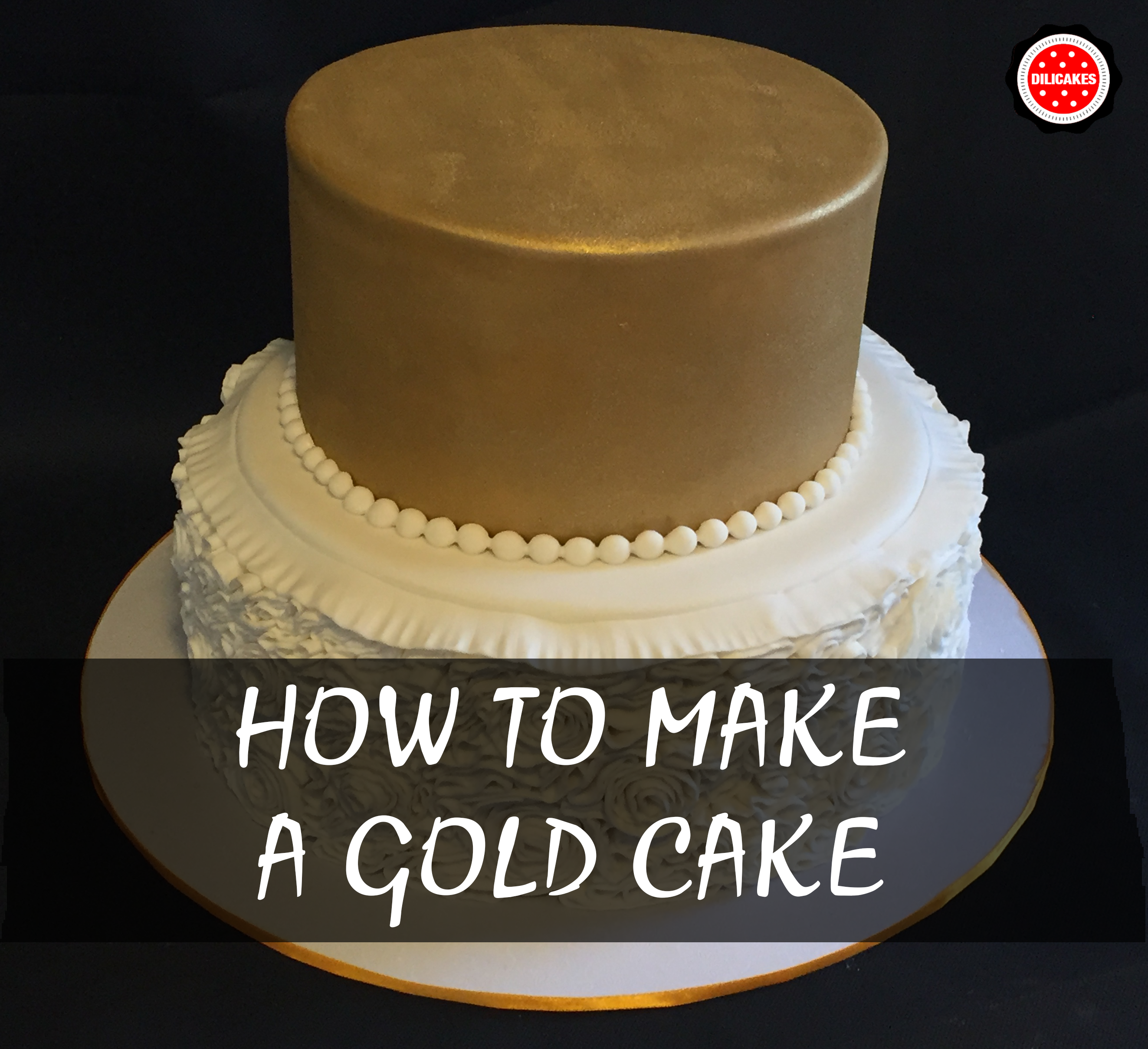how to put fondant icing on wedding cake step by step tutorial with pictures how to make a gold 16135