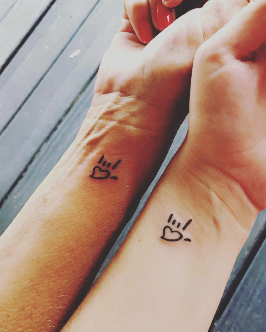 Small Tattoo Ideas For Mother And Daughter: Mother-daughter Tattoo Ideas #smalltattoos
