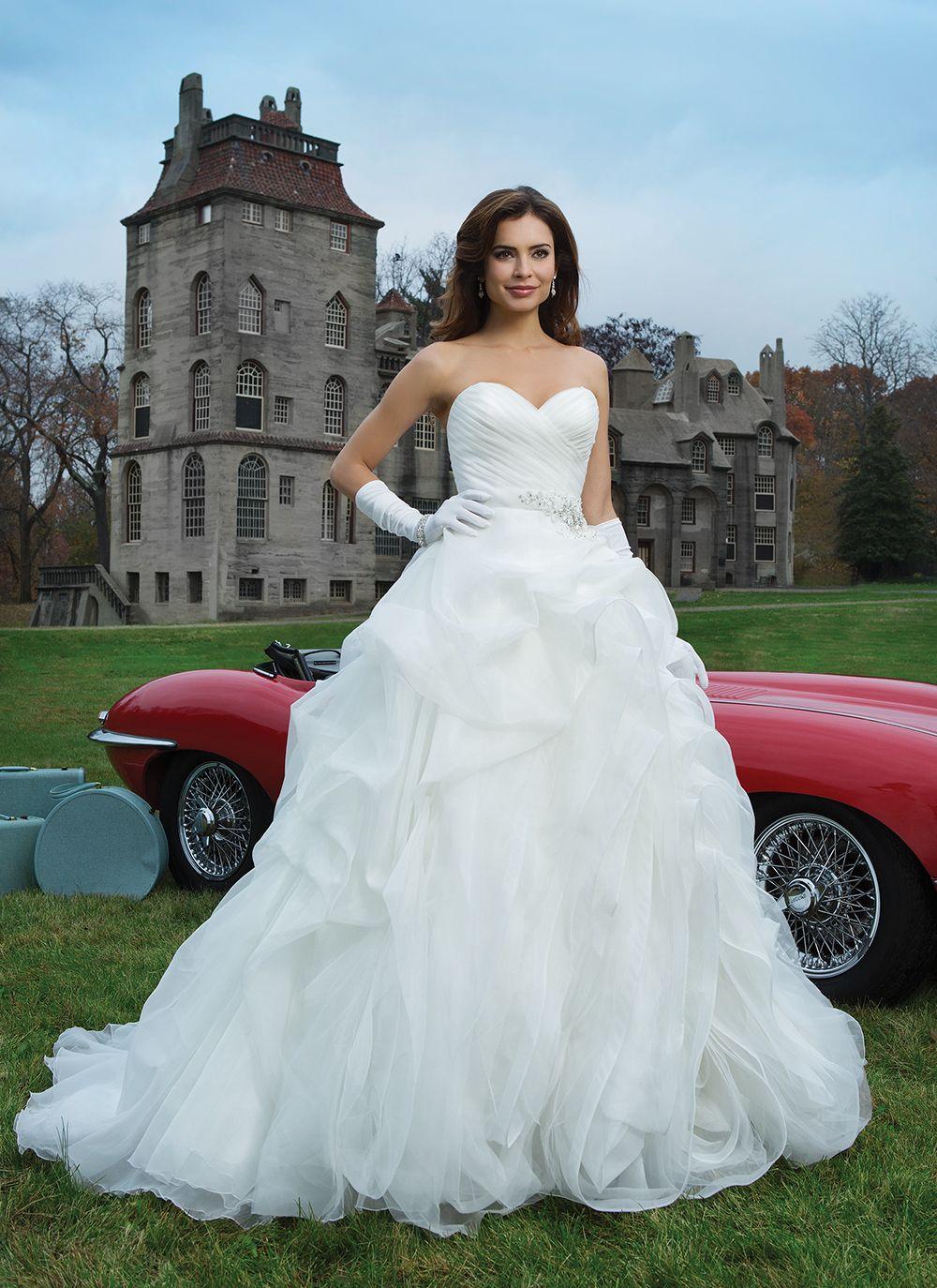 Justin Alexander wedding dresses style 8742 | Millefeuilles, Ball ...