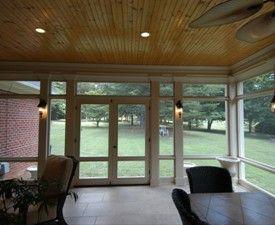 screened porch interior double doors - Porches Cerrados