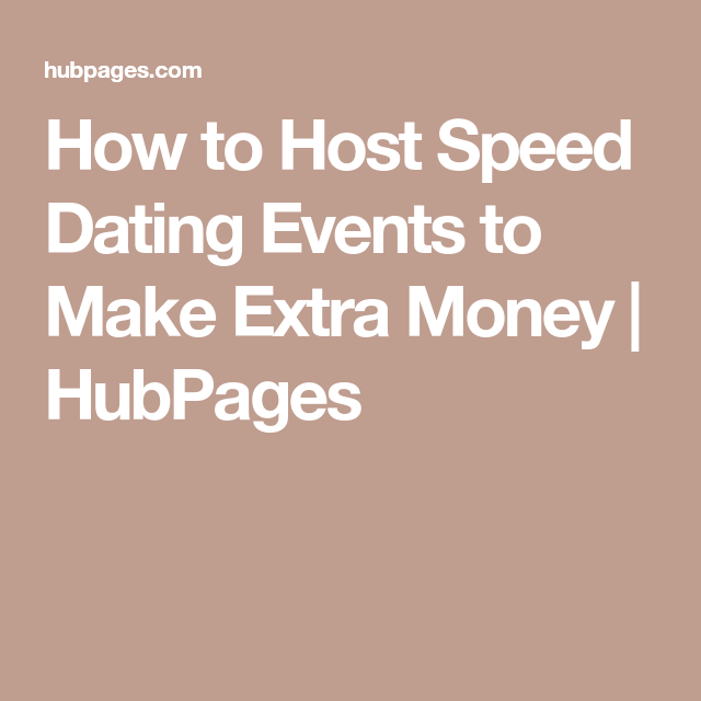 How to make money speed dating