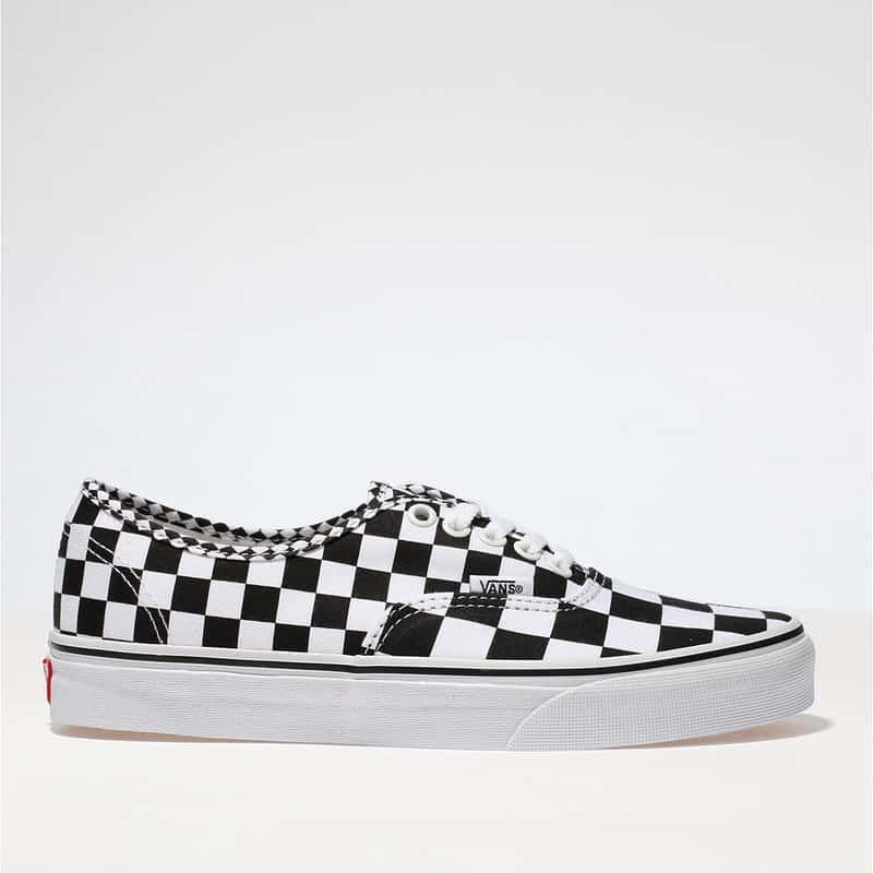647f8f60e1a6df womens black   white vans authentic mix checker trainers