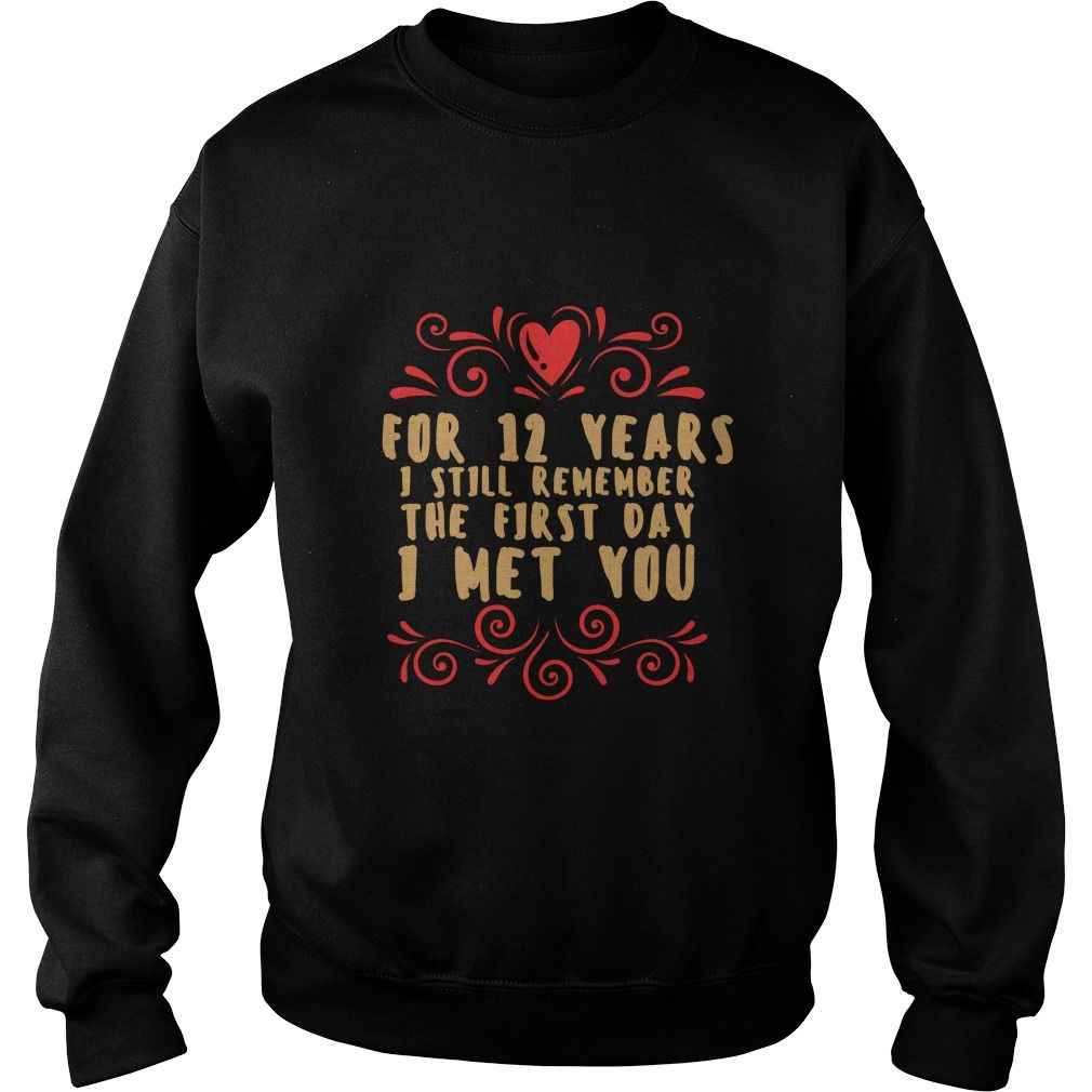 Meaning T Shirt For Husband And Wife 12th Wedding Anniversary Gift