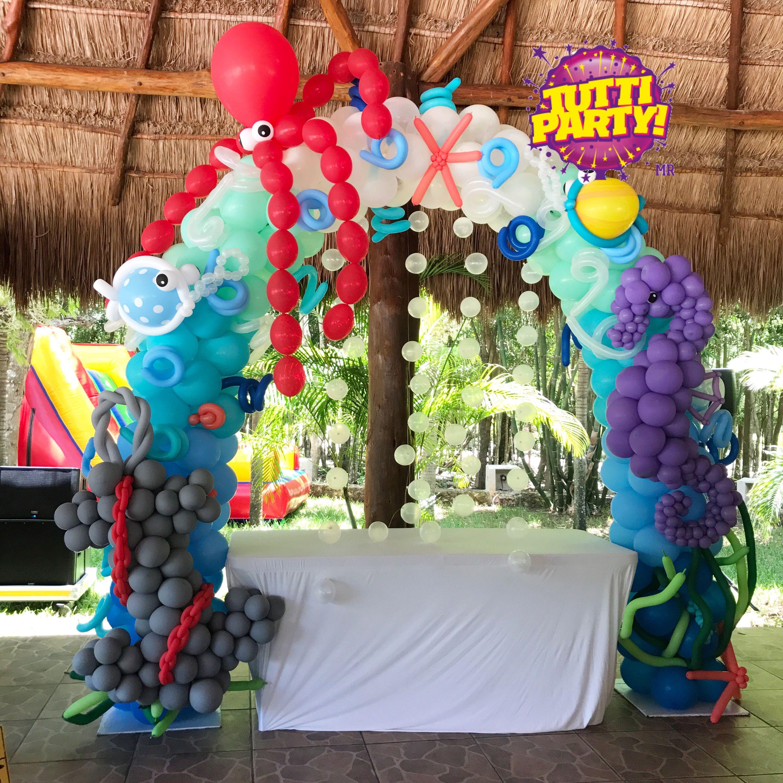 Under the sea arch balloons decorations arco de globos - Decoracion de globos ...