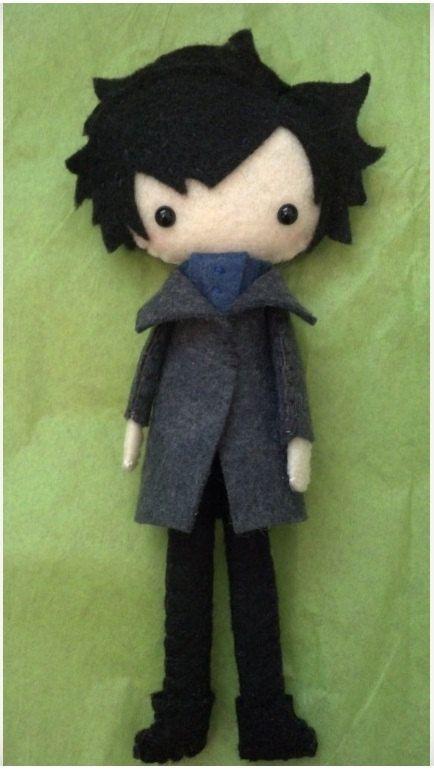 Sherlock OR John Watson Tall Plush Doll by WordsToSewBy on Etsy,