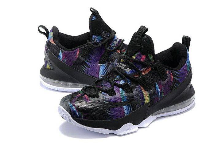 cb727904793 Free Shipping Only 69  Lebron 13 XIII Low Parade Black Cosmic Purple White  Championship